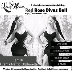 Excited to be going!! Reposting @lovelemenu_:  Get your ticket before July 23rd! #redrosedivasball #fundraiser #EmpowerWomen #selfcare