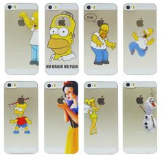 2014 New arrive 16 stylel Case For iphone 5 5s case Transparent Snow White Hand grasp the logo cell phone cases covers