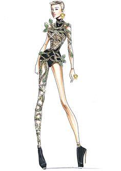 Female Character Design, Character Art, Drawing Sketches, Art Drawings, Fashion Art, Womens Fashion, Fashion Design, Jolin Tsai, Fashion Sketches