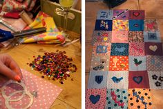 sequins and quilt