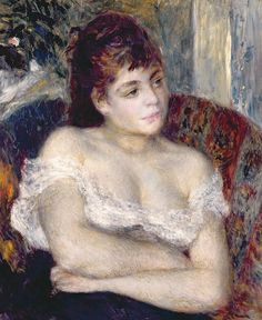 Woman in an Armchair, Pierre Auguste Renoir
