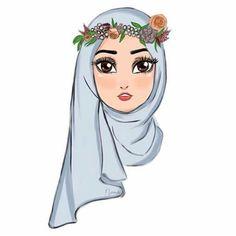 ✔ Wallpaper Art Illustration School actual scarf is the most essential item inside o Cartoon Kunst, Cartoon Art, Cute Cartoon, Art And Illustration, Islamic Wallpaper, Wallpaper Art, Hijab Drawing, Islamic Cartoon, Cartoon Wallpaper Iphone