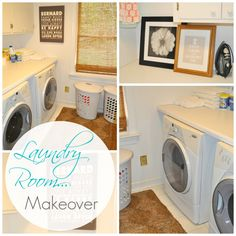 Easy DIY Laundry Room Makeover!!