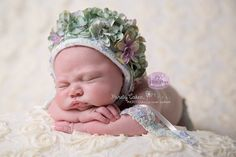 Beautiful Fully covered New Born Floral Bonnet