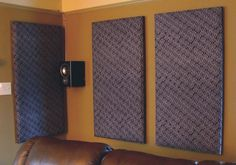 DIY sound proofing panels - great for a home theater or recording studio.