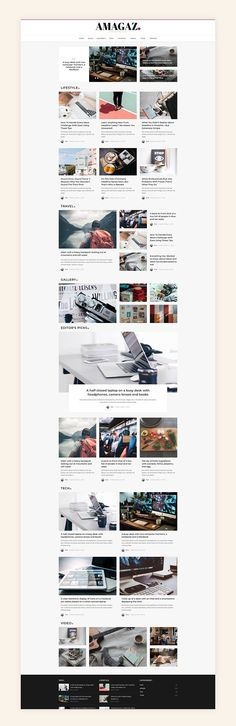 Amagaz - Blog - News - Magazine by AZ-Theme on @creativemarket