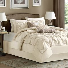 Madison Park Lafayette Ivory 7-piece Comforter Set - 15459587 - Overstock - Great Deals on Madison Park Comforter Sets - Mobile