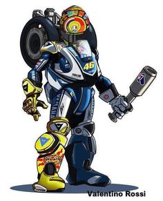 Awesome Valentino Rossi art!