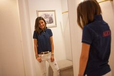 Popped Collar, Polo Shirt Women, Denim Shorts, Polo Ralph Lauren, My Style, How To Wear, Shirts, Outfits, Collection