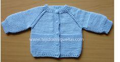 Chaquetas empezadas por el cuello, dos agujas, tejidos bebé, hand made, hecho a mano, palillos