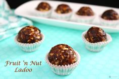 Fruit and Nut Ladoo is a healthy, easy to make, delicious Indian sweet recipe. The dates add a nice chewiness to the ladoo and the nuts a wonderful texture.