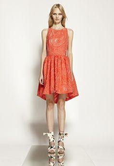 orange dress MSGM