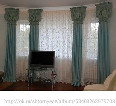 Puff top drapes. Sheer voile would look better