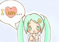 Hatsune miku I love you gif