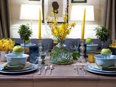 Gorgeous Table Setting Under 300 Buck$ (Products from Target) http://www.hgtv.com/decorating-basics/sabrinas-best-high-to-low-makeovers/pictures/page-4.html?soc=pinterest