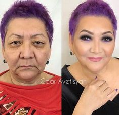 7 Tips On Makeup For Older Women With Inspirational Ideas Makeup for older women tips and ideas. Learn how to get the most out of your beautiful ageing skin and draw some inspiration. Diy Beauty Face, Beauty Makeup, Hair Makeup, Hair Beauty, Makeup Geek, Contour Makeup, Contouring And Highlighting, Makeup Tips For Older Women, Makeup Artist Tips