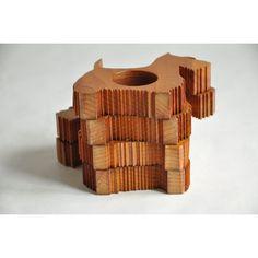 Anneaux de serviettes vintage en bois en forme de Scottish terrier