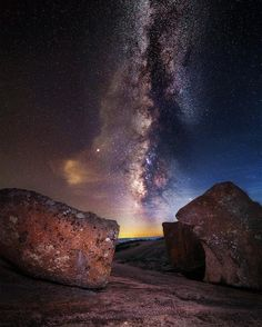"""Duality"" Enchanted Rock State Natural Area - Texas Parks - best place for stargazing and wildlife Camping Places, Camping Spots, Go Camping, Milky Way Photography, Enchanted Rock, Texas Parks, Texas Travel, Texas Hill Country, Weekend Trips"