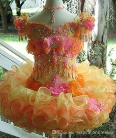 Toddler Orange Little Girl's Pageant Dresses Ball Gown Girl's Pageant Dresses | Buy Wholesale On Line Direct from China