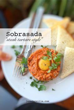 Tapas de Sobrasada: Steak Tartare Style