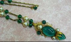 Extraordinary Eugene green art glass with pearl by BakeliteQueen, $825.00