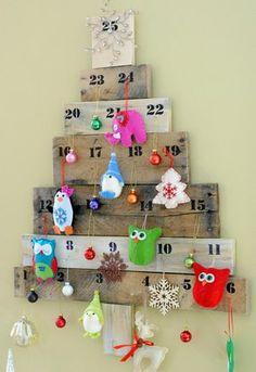 10 decorazioni natalizie dal riciclo creativo dei pallet