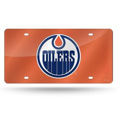 Edmonton Oilers NHL Laser Cut License Plate Cover Colored