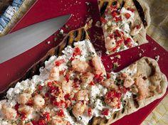 Shrimp, Artichoke and Fresh Ricotta Flatbread from CookingChannelTV.com