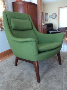Mid-Century Danish LH Hielle Chair Norway Dux Vintage Teak Vodder Jensen Jalk