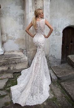 Featured Wedding Dress: Oksana Mukha; www.oksana-mukha.com/; Wedding dress idea.
