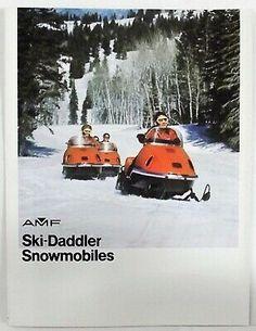 Ad(eBay Link) 1972 AMF SKI-DADDLER MK IV & V Vintage Snowmobile BROCHURE USA English TRI-Fold Vintage Sled, Vintage Levis, Triumph Motorcycles, Snowboarding, Skiing, Ducati, Mopar, Motocross, Lamborghini