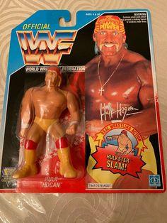 Vintage Hasbro WWF Hulk Hogan wrestling figure sealed on card. Wwf Superstars, Wrestling Superstars, Wwf Toys, Wrestling Costumes, Wwf Hasbro, Hitman Hart, Wrestling Stars, Mr Perfect, Hulk Hogan