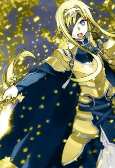 Alice Schuberg   Sword Art Online (SAO) Alicization-Underworld. Not my art.