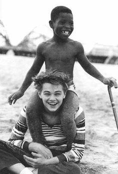Leonardo DiCaprio with a small child. I'll answer Leonardo DiCaprio with ME