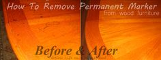 How To Get Permanent Marker Off Wood Furniture- so simple!! Love this!