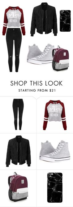 """Без названия #2"" by buyskikh ❤ liked on Polyvore featuring River Island, LE3NO, Converse and Victoria's Secret"
