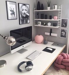 Office // Greys // Pinks // Fur // Kate Moss