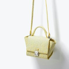 {zara} rigid mini messenger in daisy Like new condition. Darling little bag. Holds shape well and pops of color. Zara Bags