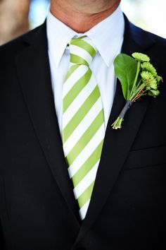 Love this color green for a wedding