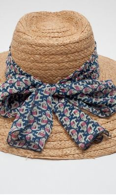 CHRISTY'S - RAFFIA SEWN BRAID FLOPPY Hat