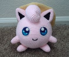 1d98d6f2 Ravelry: Jigglypuff with a Sunhat pattern by Beefcrow Art Pokemon Crochet  Pattern, Amigurumi Patterns