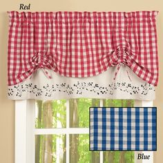 Gingham Checkered Berries Window Valance Valances, Valance Curtains, Kitchen Ideas, Kitchen Decor, Collections Etc, Vine Design, Fabric Squares, Kitchen Curtains, Play Houses