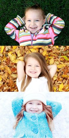 Take a picture every season with your kiddos for a collage in your hallway! I love this idea. ;)