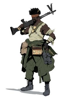 Guillaume Menuel is a concept artist at Ubisoft Montreal. Guillaume Menuel's art is fucking amazing. Character Concept, Character Art, Concept Art, Black Characters, Sci Fi Characters, Cyberpunk Character, Character Design References, Character Design Inspiration, Post Apocalyptic