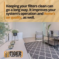 Here's our HVAC Tip of the Week! If you want to learn more tips visit our website at www.callthetiger.com. 🐯 🐯 🐯 Heating Furnace, Eden Prairie, Air Filter, Minneapolis, Plumbing, Filters, Improve Yourself, Cleaning, Website