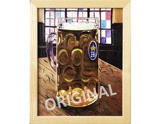 Hofbräuhaus Beer Stein, Oktoberfest Poster, Munich, Germany Painting, German Beer Art Retirement Gift, Hofbrau Haus Beer Glass, Bar Art Painting Prints, Art Prints, Home Bar Decor, Beer Art, Paper Anniversary, German Beer, Retirement Gifts, Beer Lovers, Limited Edition Prints