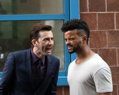 David Tennant seen on set for Jessica Jones Jessica Jones Marvel, David Tennant Doctor Who, Dr Who 11, Netflix, Mcu Marvel, Thanks For The Memories, Movie Songs, Cartoon Movies, Marvel Cinematic Universe