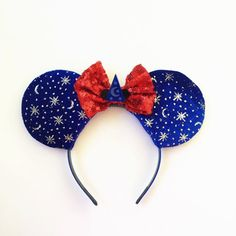 Mickey Fantasia Ears Fantasia Inspired Ears by ToNeverNeverland Baby Name Tattoos, Son Tattoos, Family Tattoos, Print Tattoos, Arrow Tattoos, Mickey Mouse Tattoos, Mickey Mouse Head, Mickey Mouse And Friends, Disney Ears Headband