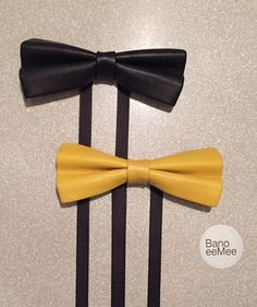 BanoeeMee Leather Bow Ties