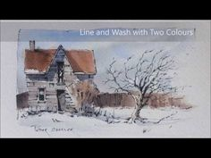 Happy Holidays everyone! A little Line and Wash Winter Farmhouse Painting. Peter Sheeler - YouTube
